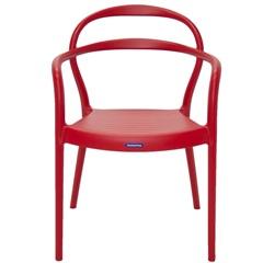 Cadeira com Braços em Polipropileno Sissi 79x58x51,5cm Vermelha - Tramontina