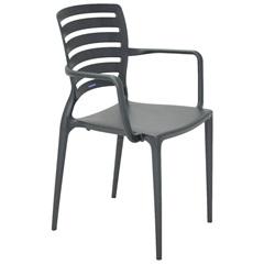 Cadeira com Braços Sofia Grafite - Tramontina