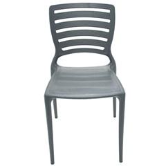 Cadeira com Encosto Vazado Sofia Grafite - Tramontina