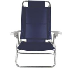 Cadeira de Praia com 6 Posições Summer Azul - MOR
