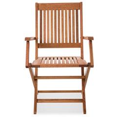Cadeira Dobrável em Madeira com Braço Arpoador Jatobá - Casa Etna