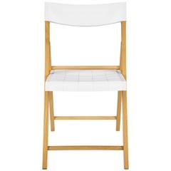 Cadeira Dobrável sem Braço em Madeira Tauarí 78,1x42,1x53,7cm Branca - Tramontina