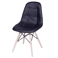 Cadeira Eames Botonê com Base em Madeira 43x44cm Preta - Ór Design