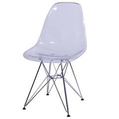 Cadeira Eames com Base de Metal Incolor - Ór Design