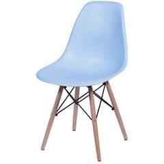 Cadeira Eames com Base em Madeira 46x46,5cm Azul Clara - Ór Design
