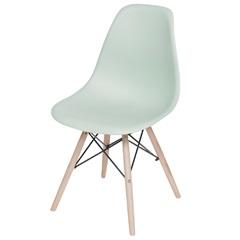 Cadeira Eames com Base em Madeira 46x46,5cm Verde Clara - Ór Design