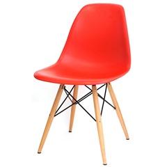 Cadeira Eames com Base em Madeira 46x46,5cm Vermelha - Ór Design