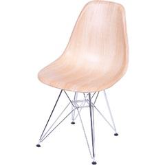 Cadeira Eames com Base em Metal 46x46,5cm Wood - Ór Design