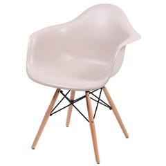 Cadeira Eames com Braços E Base de Madeira Fendi - Ór Design