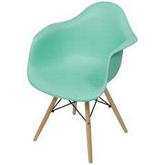 Cadeira Eames com Braços E Base de Madeira Tiffany - Ór Design
