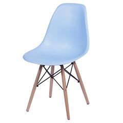 Cadeira Eames Infantil com Base em Madeira 33x31cm Azul - Ór Design
