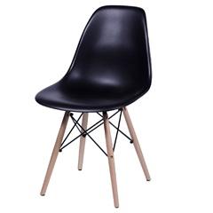 Cadeira Eames Infantil com Base em Madeira 33x31cm Preta - Ór Design