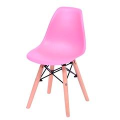 Cadeira Eames Infantil com Base em Madeira 33x31cm Rosa - Ór Design