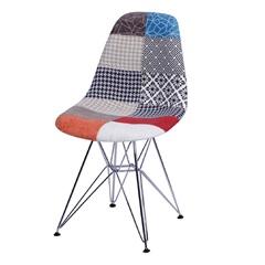 Cadeira Eames Patchwork com Base em Metal 46x46,5cm - Ór Design