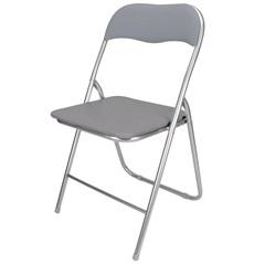 Cadeira em Aço Dobrável 44x90cm Cinza - Casanova