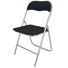 Cadeira em Aço Dobrável 44x90cm Preta - Casanova