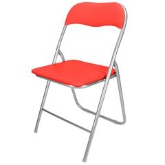 Cadeira em Aço Dobrável 44x90cm Vermelha - Casanova