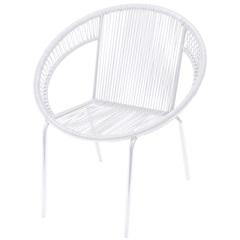 Cadeira em Aço E Pvc Cancun Branca - Ór Design