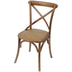 Cadeira em Madeira Cross 48x55cm Bege Escura - Ór Design