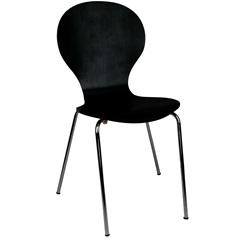 Cadeira em Madeira Shell 47x51cm Preta - Casa Etna