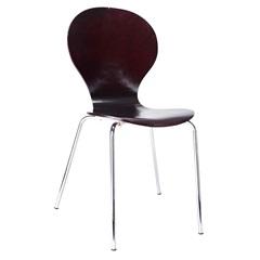 Cadeira em Madeira Shell 47x51cm Wengue - Casa Etna