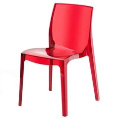 Cadeira em Policarbonato Bayern Vermelha - Ór Design