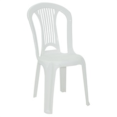 Cadeira em Polipropileno Bistrô Atlântida Branca - Tramontina