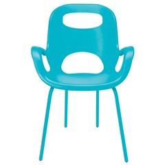 Cadeira em Polipropileno com Braço Oh Chair Turquesa - Casa Etna