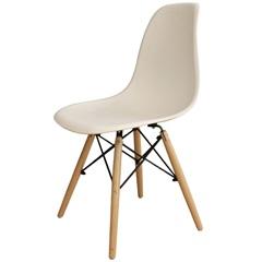 Cadeira em Polipropileno com Pés de Madeira 82x47cm Branca - Importado
