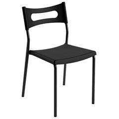 Cadeira em Polipropileno Easy 41x49cm Preta - Casa Etna