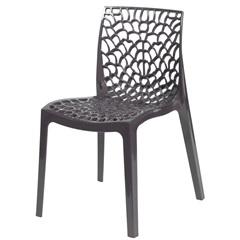Cadeira em Polipropileno Gruvyer Marrom - Ór Design