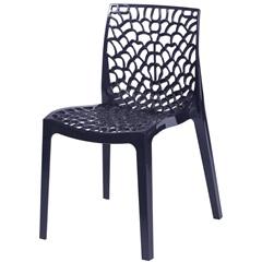 Cadeira em Polipropileno Gruvyer Preta - Ór Design