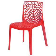 Cadeira em Polipropileno Gruvyer Vermelha - Ór Design