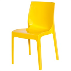 Cadeira em Polipropileno Ice Amarela - Ór Design