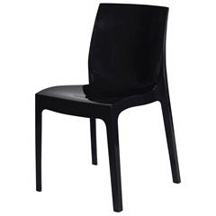 Cadeira em Polipropileno Ice Preta - Ór Design