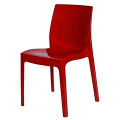 Cadeira em Polipropileno Ice Vermelha - Ór Design