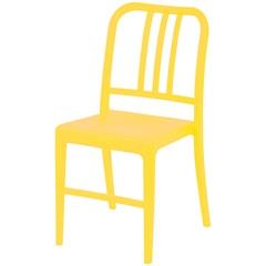 Cadeira em Polipropileno Navy Amarela - Ór Design