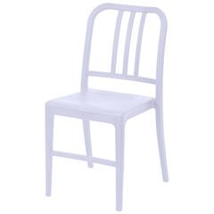 Cadeira em Polipropileno Navy Branca - Ór Design