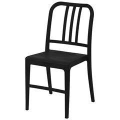 Cadeira em Polipropileno Navy Preta - Ór Design