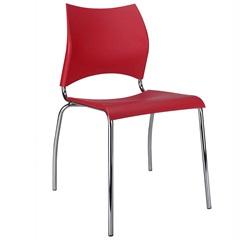 Cadeira em Polipropileno Potim 2 48,5x56,5cm Vermelha - Casa Etna
