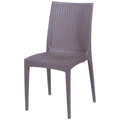 Cadeira em Polipropileno Tramas Marrom - Ór Design