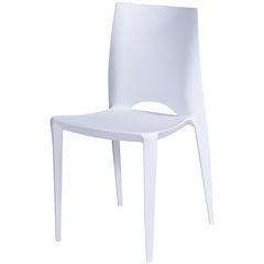 Cadeira em Polipropileno Zoe Branca - Ór Design