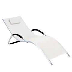 """Cadeira Espreguiçadeira """"S"""" com Encosto Branca - Bel Fix"""