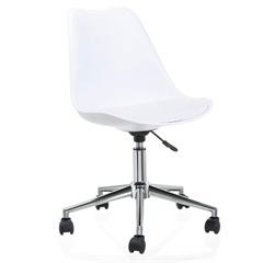 Cadeira Giratória em Polipropileno Eames 48,5x54,5cm Branca - Casa Etna