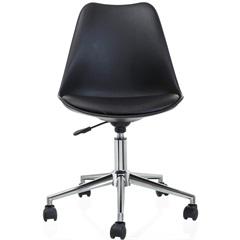 Cadeira Giratória em Polipropileno Eames 48,5x54,5cm Preta - Casa Etna