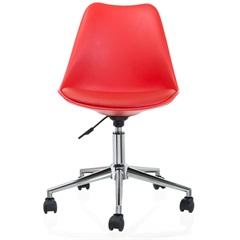 Cadeira Giratória em Polipropileno Eames 48,5x54,5cm Vermelha - Casa Etna