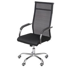 Cadeira para Escritório Alta com Base Giratória Roma 51x54cm Preta - Ór Design