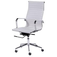 Cadeira para Escritório com Base Giratória Eames 114x61cm Branca - Ór Design