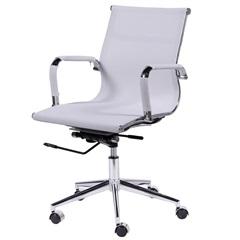 Cadeira para Escritório com Base Giratória Eames Tela 97x61cm Branca - Ór Design
