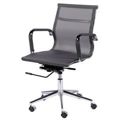 Cadeira para Escritório com Base Giratória Eames Tela 97x61cm Cinza - Ór Design